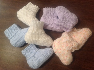 4 Baby Booties to go how to by Stitch Niche