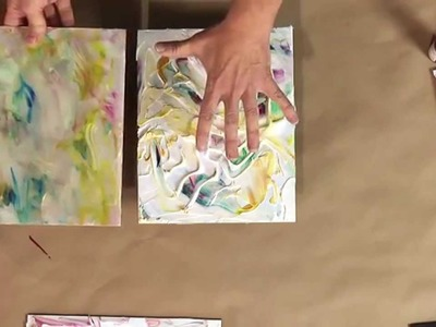 173 acrylic pouring swipe with primary elements my for Acrylic paint effects