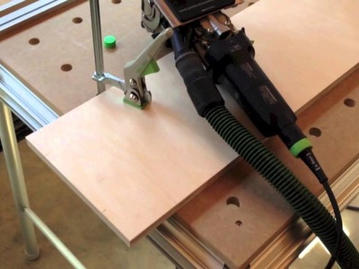 Attaching solid edge banding to a drawer front with Festool Domino
