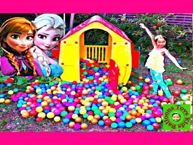 DISNEY FROZEN Movie Videos 2016 Rainbow House Ballpit Surprise Toys Videos Kids Fun Activities
