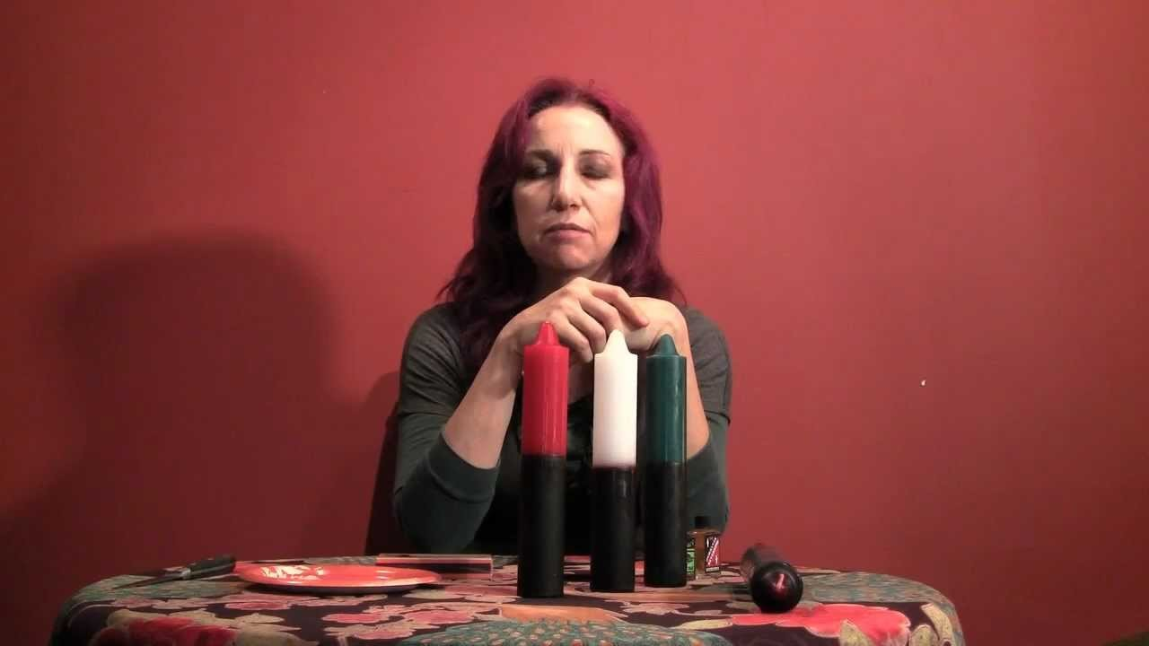Double-Action Candle for a Reversing Spell - Hoodoo How To with Madame Pamita