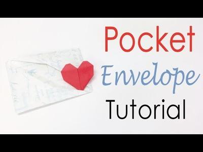 Easy☺︎ Pocket Envelope With Heart - Origami Kawaii〔#119〕