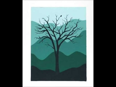 Easy Silhouette Painting - Acrylic Painting Tutorial