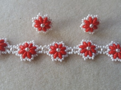 FLOWERS SET BRACELET AND EARRINGS FOR CHILDREN