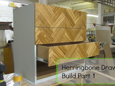 Herringbone drawer build part 1