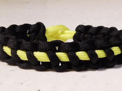 How To Make A Paracord Thin Line Solomon Bar Survival Bracelet