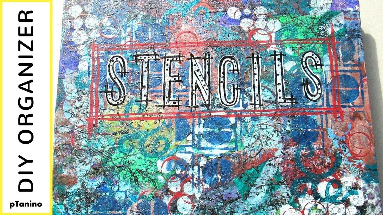 How to Make a Stencil Storage Organizer from a Scrapbook Album