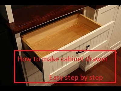 How to make cabinet drawers - Easy step by step woodworking projects