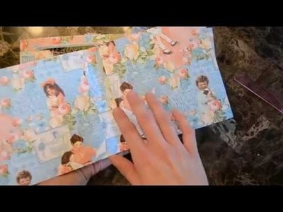 How to make Graphic 45 Mini Album using only 2 Sheets of Paper