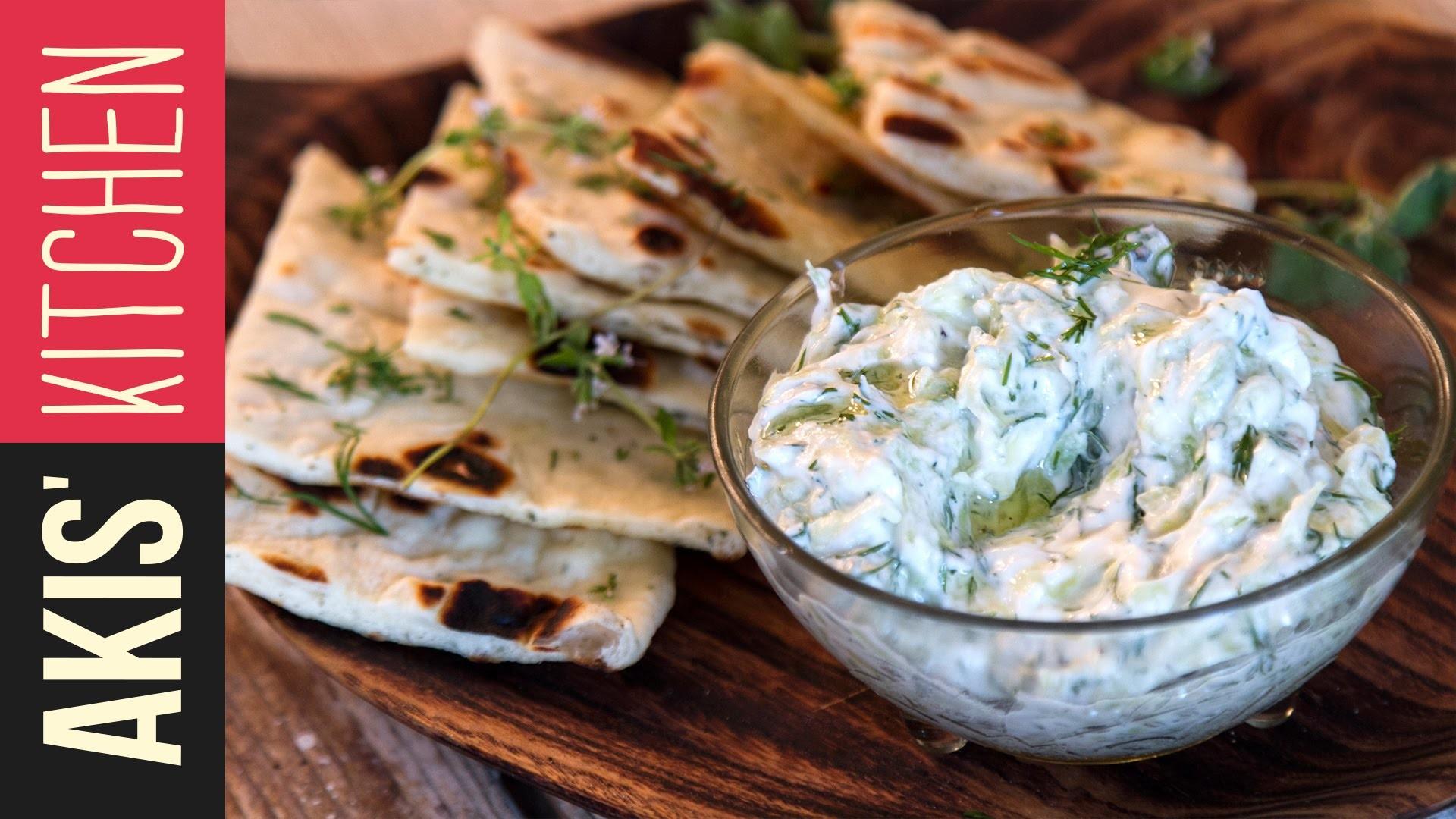 How to make Greek Tzatziki Sauce | Akis Kitchen