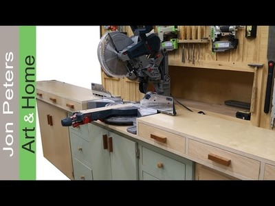 Make Drawers & Drawer Pulls - Miter Saw Station Build part 2