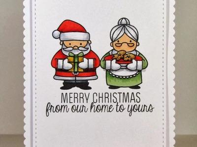 {Mama Elephant} Creating Shaped Cards with Femme Frames + Cozy Christmas