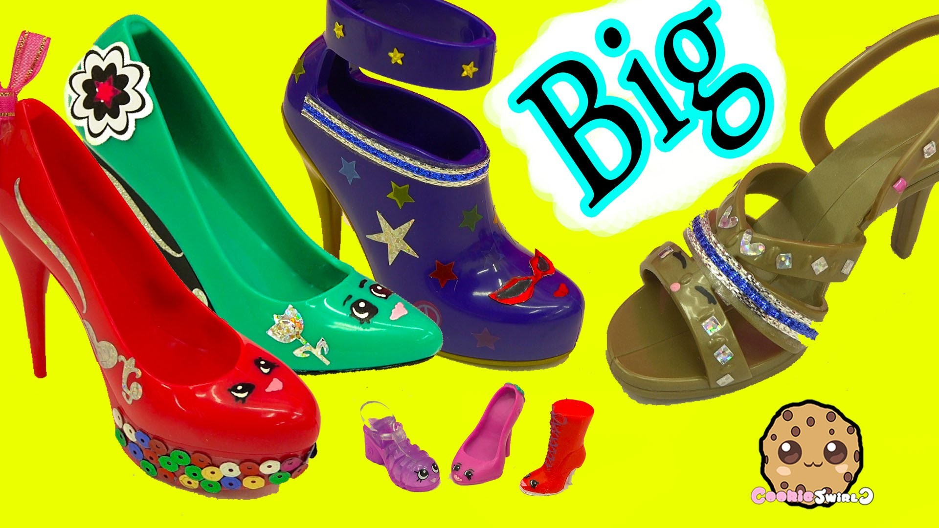 Painting + Designing Large Big Shopkins Inspired Shoes - Crayola Shoe Designer Studio Craft Playset