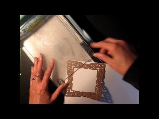 Tip: Make ornate corners on large scrapbook layouts or mini albums with regular Spellbinder dies