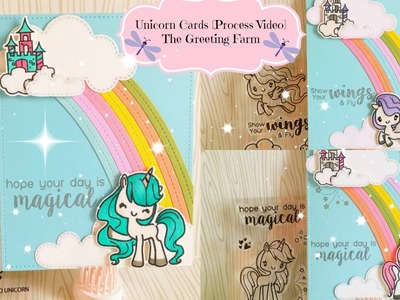 Unicorn Cards | Process Video | The Greeting Farm Stamps
