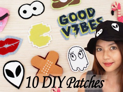 10 DIY Cute Patches with 10 Different Techniques | Pin.Badge.Patch for Clothes | Venezia Lowis
