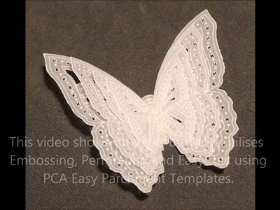 57 PCA-Parchment craft EasyCut TP7134EC Demo of layered Butterflies 3D project