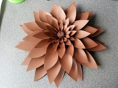 Amber Paper Flower