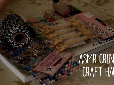 ASMR Soft Spoken Craft Haul (Crinkly Sounds & Brushing)