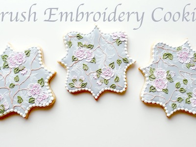 Brush Embroidery Cookies - Collab With Follow That Way!