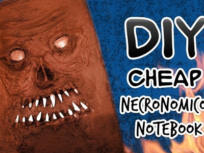 CHEAP, FAST and EASIEST TUTORIAL- Necronomicon Book of the Dead Notebook Craft DIY