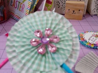Cupcake liners rosette tutorial