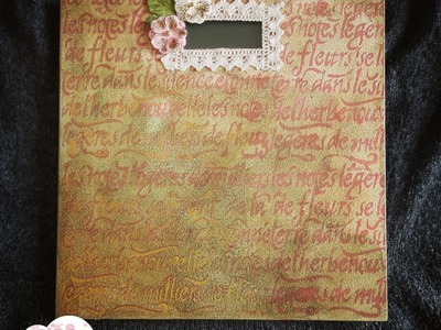 Decoupage shabby chic antique body weight scale DIY ideas decorations craft tutorial