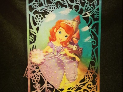 Decoupage Sofia The First wooden decoration DIY ideas decorations craft tutorial