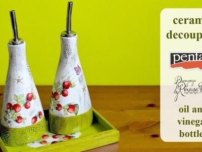 DECOUPAGE TUTORIAL  decoupage ceramic - DIY ceramic decoupage. Découpage