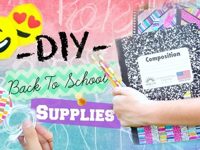 -DIY- Back To School Supplies! | Ms. Craft Nerd