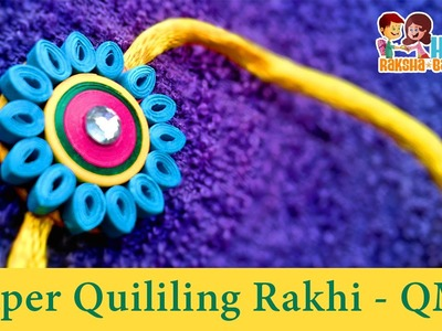 DIY Craft Ideas-How to make Beautiful Paper Quilling 'Rakhi' - Raksha Bandhan -Paper Art Quilling