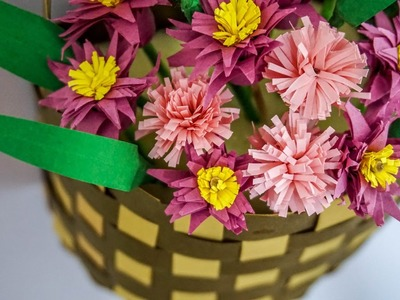 DIY Craft Ideas | Paper Flower Basket | HandiWorks #70