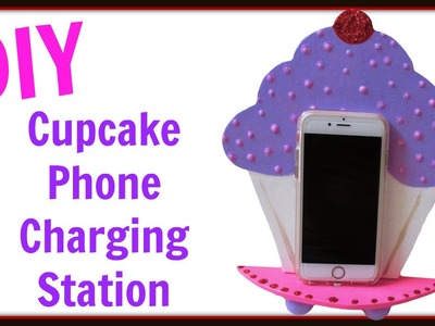 DIY Cupcake Phone Charging Station ~  Back To School Crafts ~ Craft Klatch ~ How To