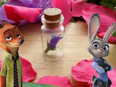 DIY Disney Zootopia Night Howlers Miniature Bottle Charm