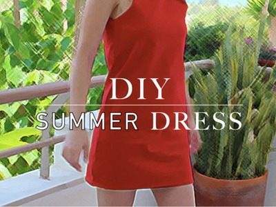 DIY easy summer dress