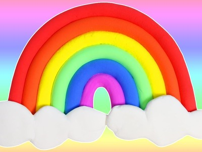 DIY Easy to Make Cotton Candy Clay Rainbow! MIX Cotton Candy for Wacky Colors