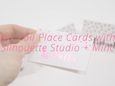DIY Foil Place Card Craft : Silhouette Studio + Minc Tutorial (Free SVG Template)