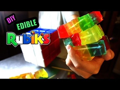 DIY GIANT Rubik's Cube Edible Gummy!! 2 Versions