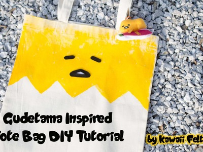 DIY Gudetama No Sew Tote Bag Tutorial | How to craft tutorial | Kawaii Felting