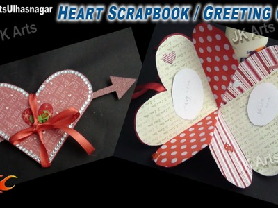 DIY Heart Shape Love Scrapbook Greeting Card Idea   JK Craft Ideas 082