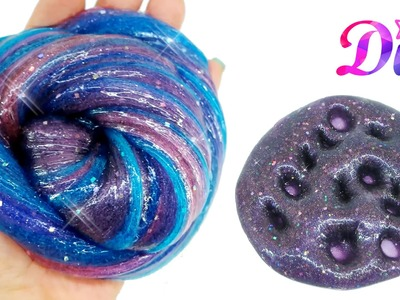DIY - How to make Glitter Galaxy Slime -  Without Borax