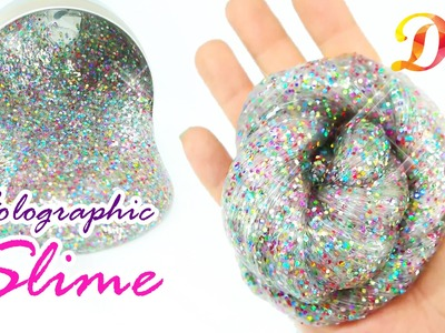 DIY How to make Holo Glitter Slime!! - Without Borax