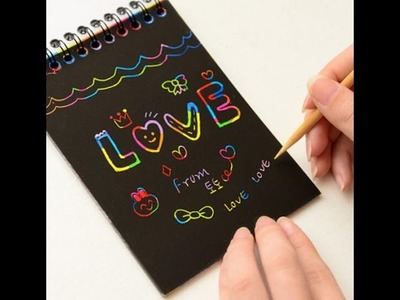 DIY How to make your own scratch notebook