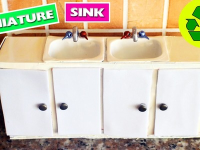 DIY | Miniature Kitchen Sink with doors that open and close