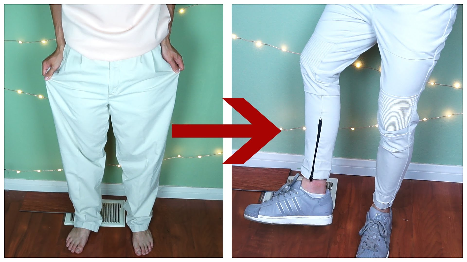 DIY: Oversized pants to zipped biker pants | KAD Transformation #13