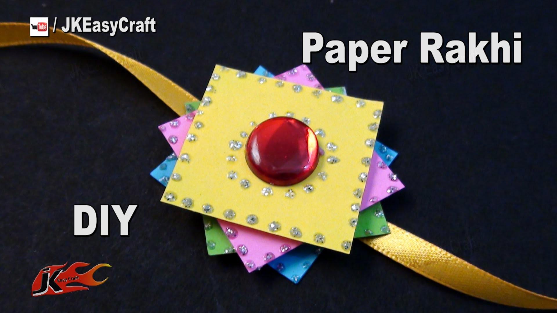 DIY Paper Rakhi for Raksha Bandhan | How to make | JK Easy Craft for kids 177