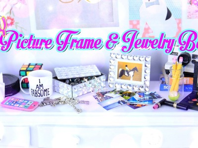 DIY - Quick Craft:  How to Make a Doll Picture Frame & Jewelry Box - Handmade - Crafts