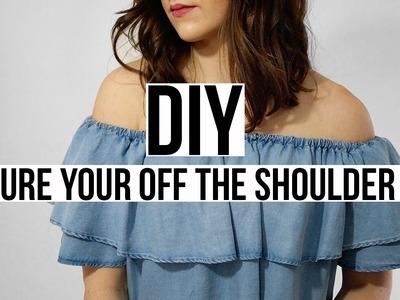 DIY: Secure Your Off the Shoulder Top