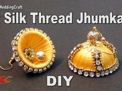 DIY Silk Thread Jhumka  | Return Gift Idea | How to make  Jewelry | JK Wedding Craft 103