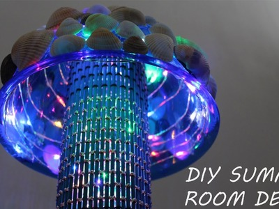 DIY Summer Room Decor. DIY: Easy to make a Seashell Lamp